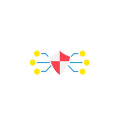 Network protection flat icon vector