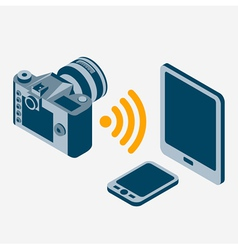 camera wi-fi vector image