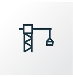 Lifting hook outline symbol premium quality vector