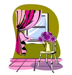 Stylish of morning room vector