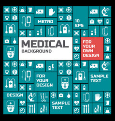 Medical symbols background vector
