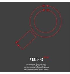 Search magnifier flat modern web button and space vector