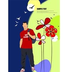 al 0709 man poster 02 vector image