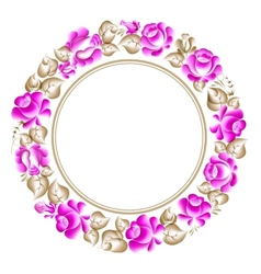 Gzhel style circle frame vector