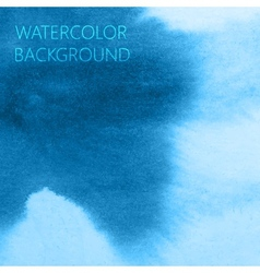 Abstract blue watercolor background for your vector