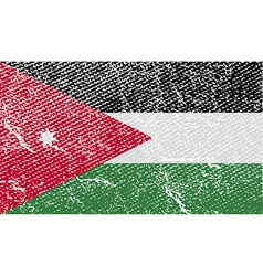 Flag of jordan with old texture vector