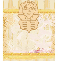 Abstract grunge frame - great sphinx of giza vector