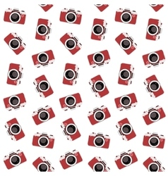 vintage flat multicolor film photo cameras vector image