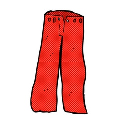 Comic cartoon red pants vector