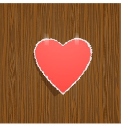 Torn paper heart vector