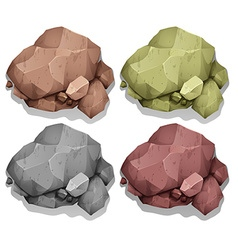 Different color of natural rocks vector