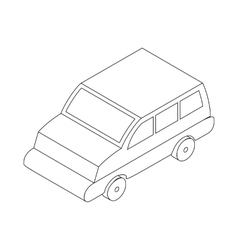 Car icon isometric 3d style vector