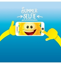 Summer selfie concept background vector image