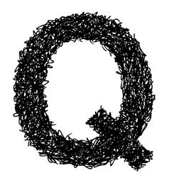 alphabet Q vector image vector image