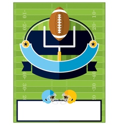 American Football Flyer Template vector image