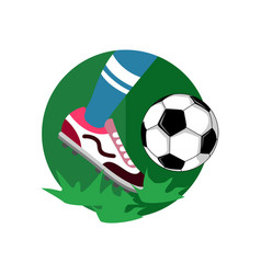 ball dribbling football vector image