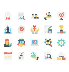 Business Icons 15 vector image vector image