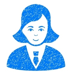 Business lady grainy texture icon vector