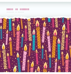 colorful birthday candles horizontal torn seamless vector image vector image