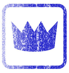 Crown framed textured icon vector