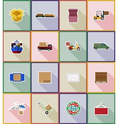 Delivery flat icons 18 vector