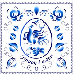 Easter gzhel eeg vector image