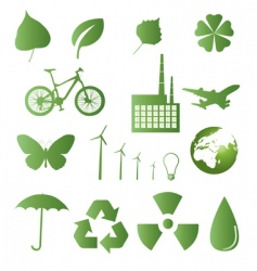 ecology and nature icons vector image vector image