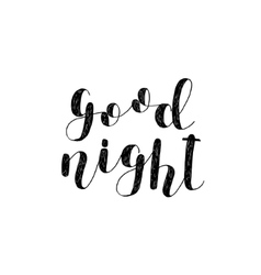 Good night Brush lettering vector image vector image
