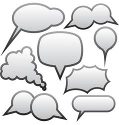 Grey speech bubbles vector image