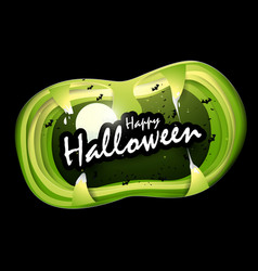 halloween text in mouth of monster vector image vector image