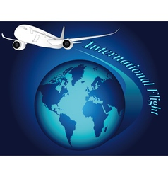 international flight vector image vector image