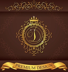 Letter d luxury logo template flourishes vector