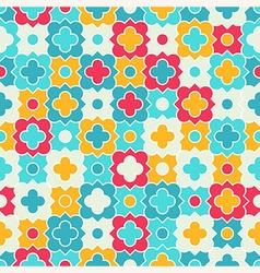 Multicolor quatrefoil lattice pattern seamless vector