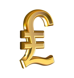 Pound sign on white vector image vector image