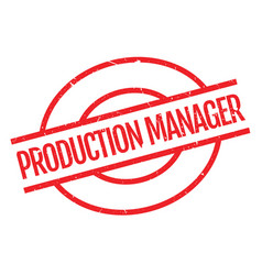 Production manager rubber stamp vector