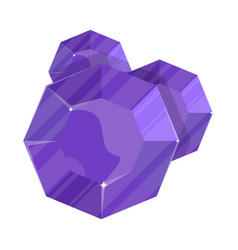 Purple jewelry round amethyst icon vector