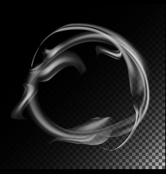 realistic cigarette smoke waves 3d vector image vector image