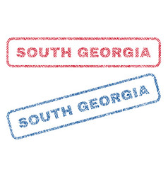 South georgia textile stamps vector