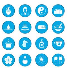 Spa icon blue vector