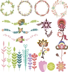 Set of different design elements vector