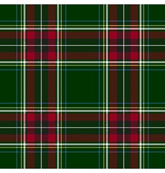 Green red check tartan textile seamless pattern vector