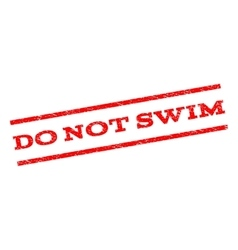 Do not swim watermark stamp vector