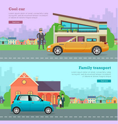 Transport cool cabriolet family transportation vector