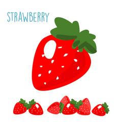 Organic fresh strawberry on white background xa vector