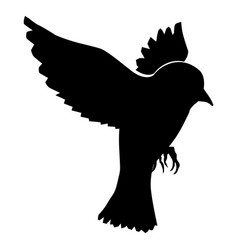 Flying sparrow vector