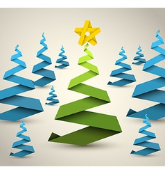 Simple paper christmas trees vector image