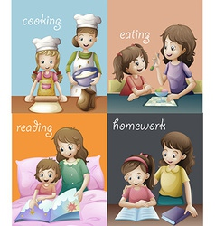 Routines vector image