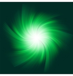 Green Twirl Background vector image