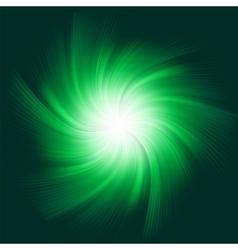 Green twirl background vector