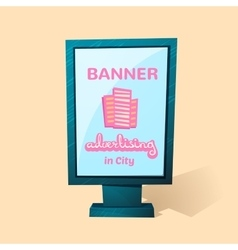 Street advertising billboard vector